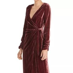 Donna Mizani Austen Velvet Wrap Gown